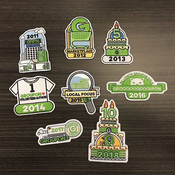 Groupon anniversary patches