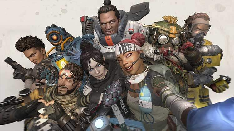 Characters from the game Apex Legends