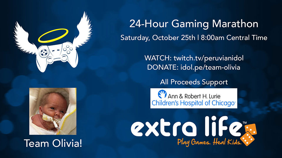 Extra Life 24-hour Marathon - October 25 at 8 AM Central