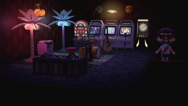 Barcade themed basement